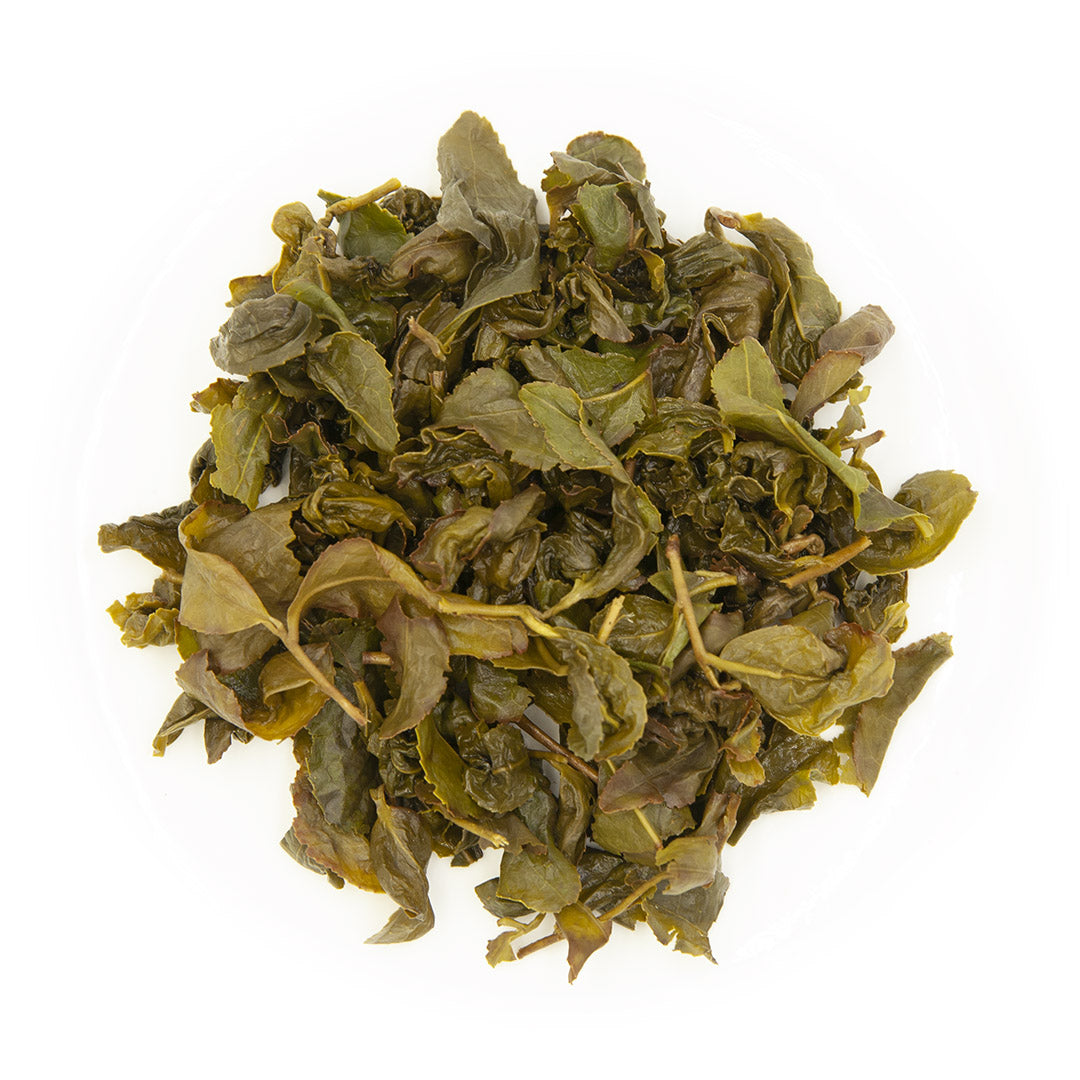 Tsui Yu Oolong Tea, wet leaves
