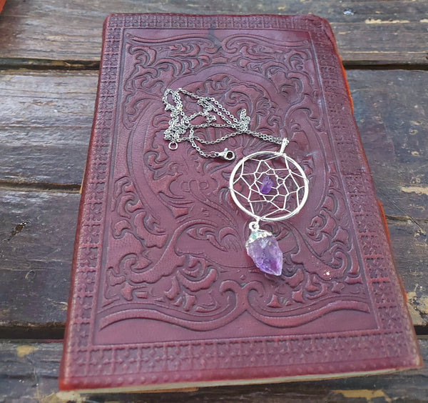 NEW!! Amethyst Dreamcatcher Pendant