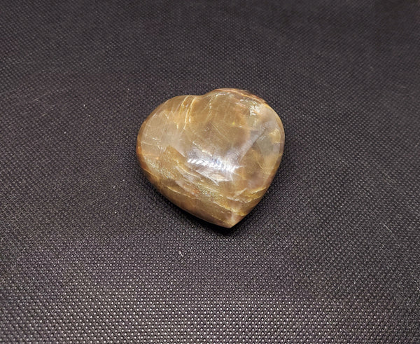 NEW!! Black Moonstone Heart Carving