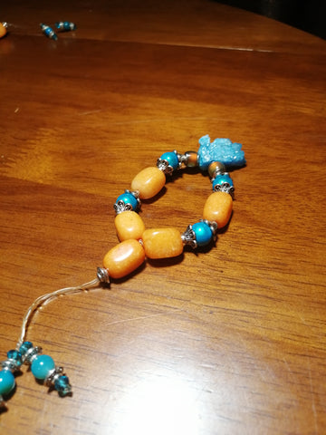 SALE: Orange Agate Mood Worry Beads