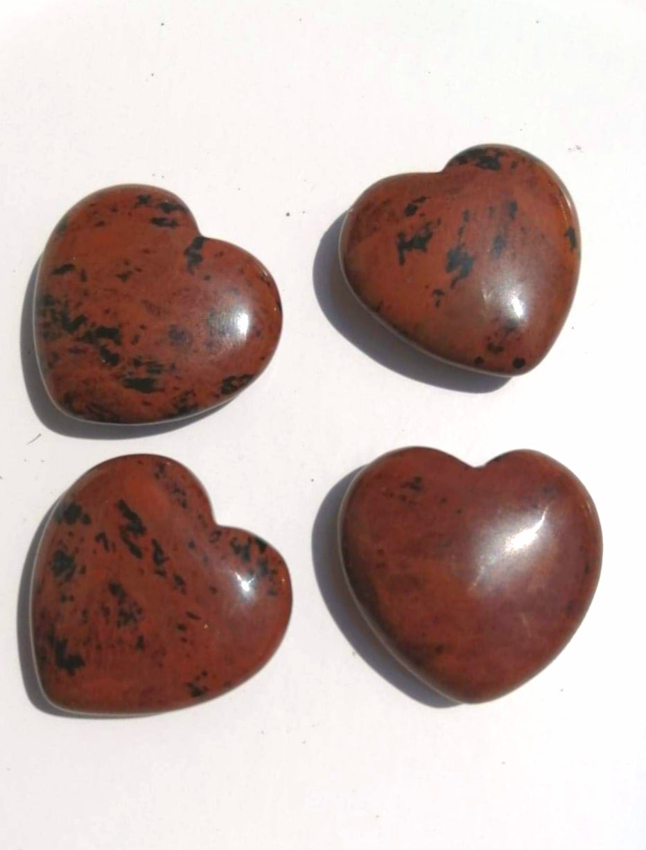 Mahogany Obsidian Pocket Heart