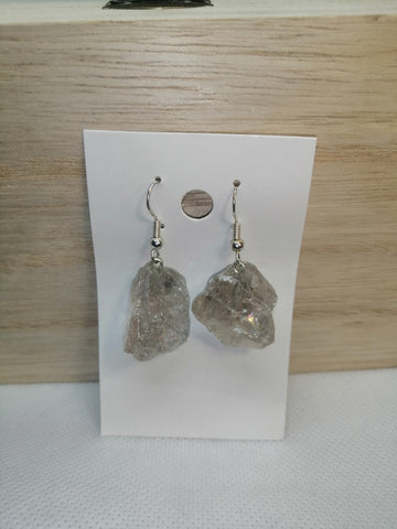 Rough Smokey Quartz Earrings