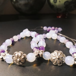 Opalite and Amethyst Worry Beads