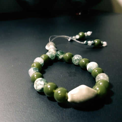 Green Moss Agate Empathy Beads