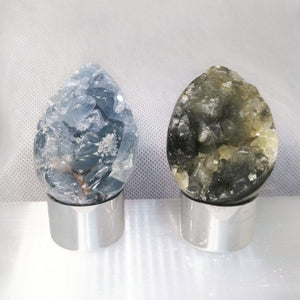 NEW!! Crystal Geode Egg Carving