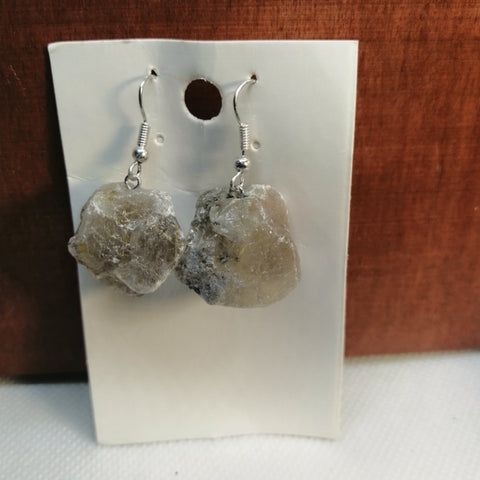 Rough Rutilated Quartz Earrings