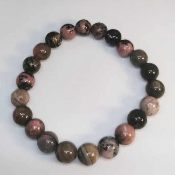 NEW!! Rhodonite Beaded Stretch Bracelet