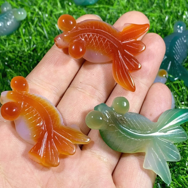 NEW!! Agate Fish Carving