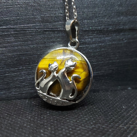 NEW!! Tiger's Eye Kitty Pendant