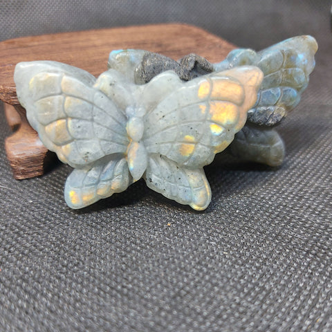 NEW!! Labradorite Butterfly Carving