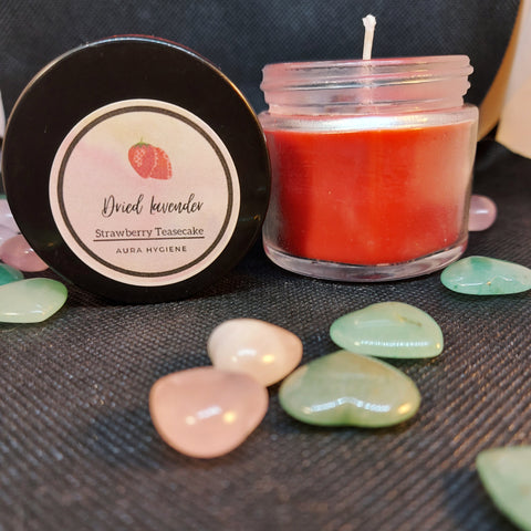 "NEW!! ""Strawberry Teasecake"" Intention Candle"