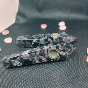 NEW!! Indigo Gabbro Herb Pipe Decor