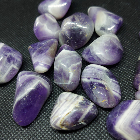 NEW!! Tumbled Banded Chevron Amethyst