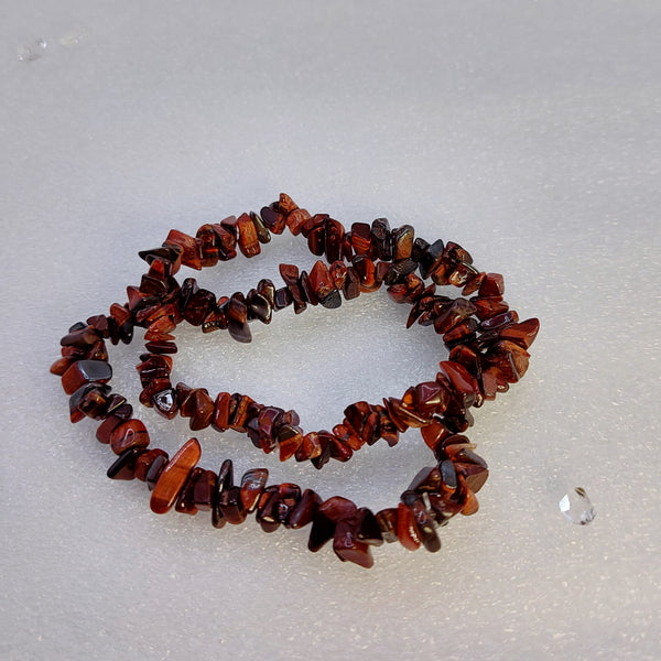 NEW!! Red Tiger's Eye Chip Bracelet