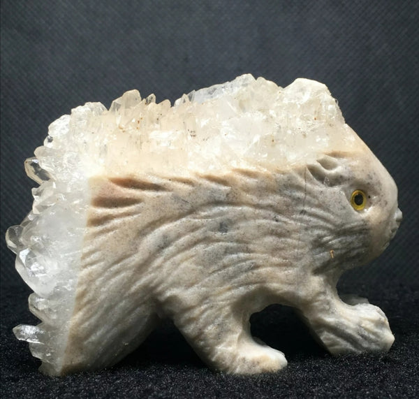 Porcupine Crystal Carving