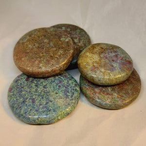 NEW!! Ruby Zoisite Worry Pocket Stone