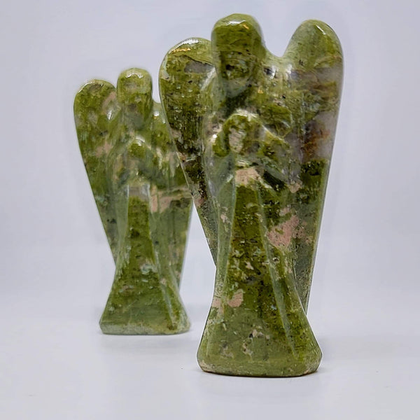 NEW!! Unakite Crystal Angel Carving