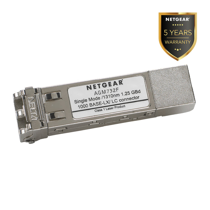 Netgear AGM732F - SFP Transceiver 1000BASE-LX Single Mode LC GBIC (Warranty 5 Years)