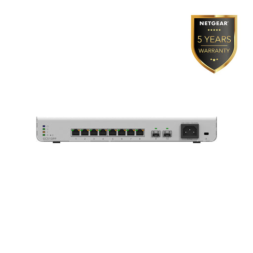 (Pre-Order) Netgear GC510PP 8 Port Gigabit PoE+ App Managed Smart Cloud Switch (Warranty 5 Years)