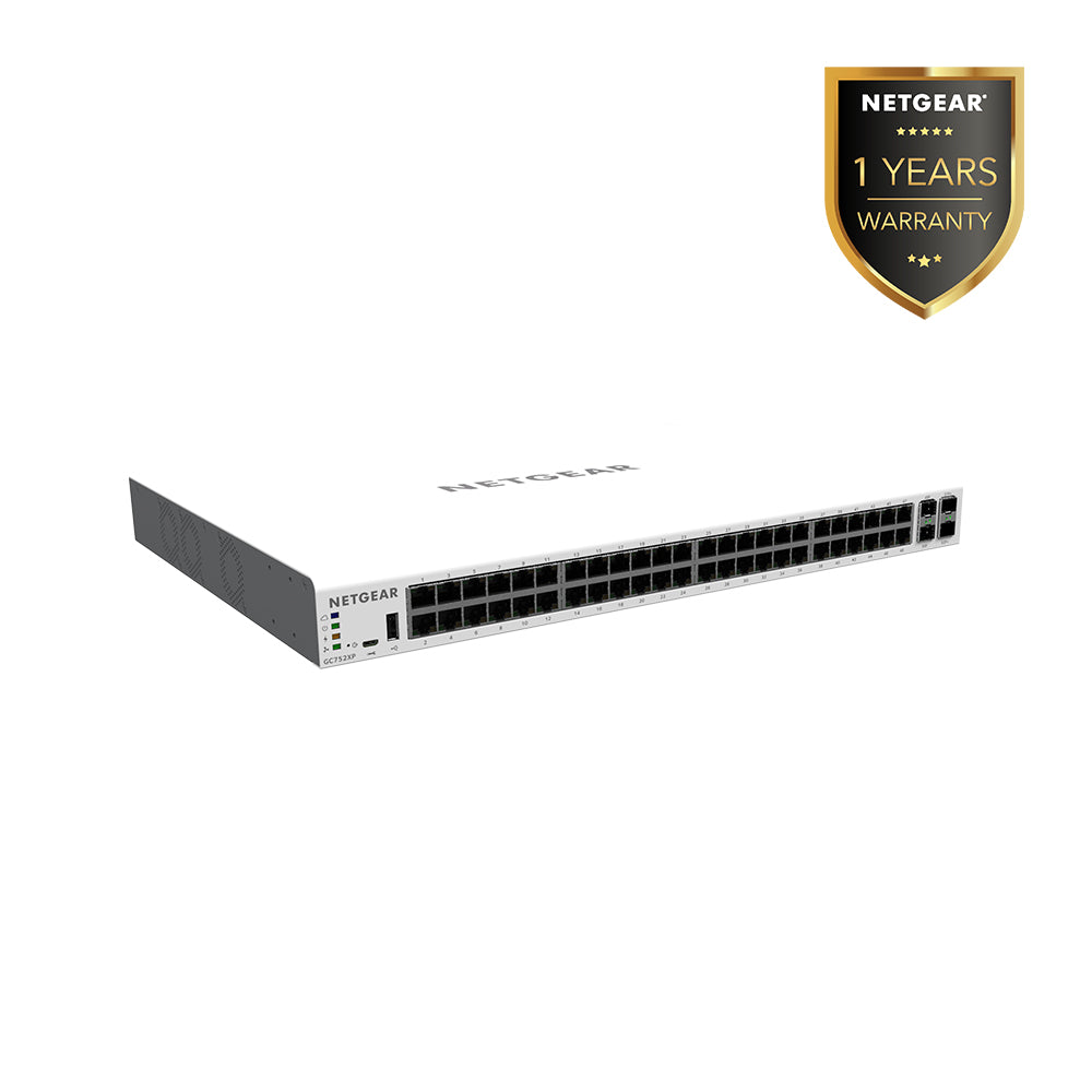(Pre-Order) Netgear GC752XP - Insight Managed 52 Port Gigabit PoE+ SmartCloud Switch (Warranty 5 Years)