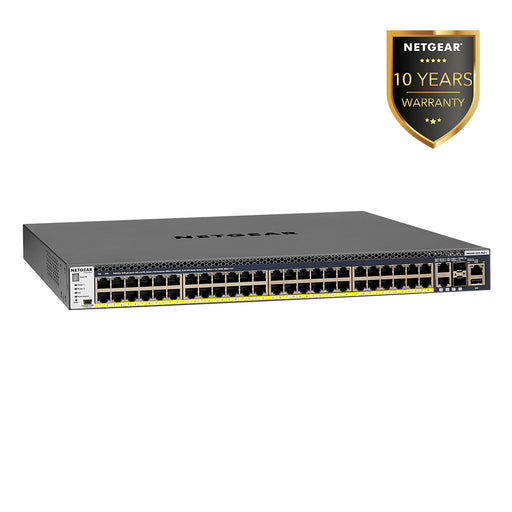 (Pre-Order) Netgear GSM4352PA - 48 Port PoE+ Stackable Fully Managed Switch M4300 (Warranty 10 Years)