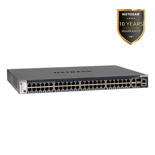 Netgear GSM4352S - 48x1G Stackable Managed Switch 2x10GBASE-T and 2xSFP+ (Warranty 10 Years)
