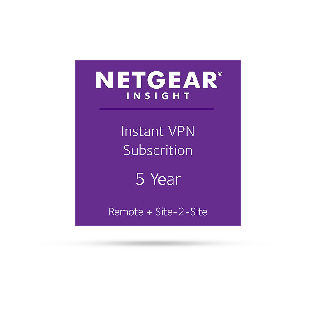 (Pre-Order) Netgear Insight Instant VPN subscription IVPN5 - 5 Years
