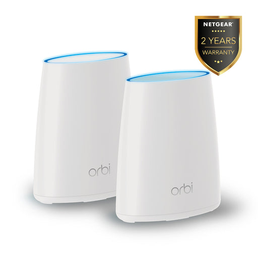 NETGEAR Certified Refurbished Orbi (RBK40) Tri Band Mesh WiFi Router - AC2200 (1 Router + 1 Satelit)