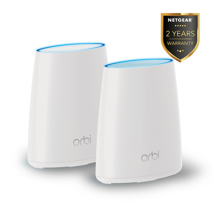 NETGEAR Value Pack Orbi (RBK40) Tri Band Mesh WiFi Router - AC2200 (1 Router + 1 Satelit)