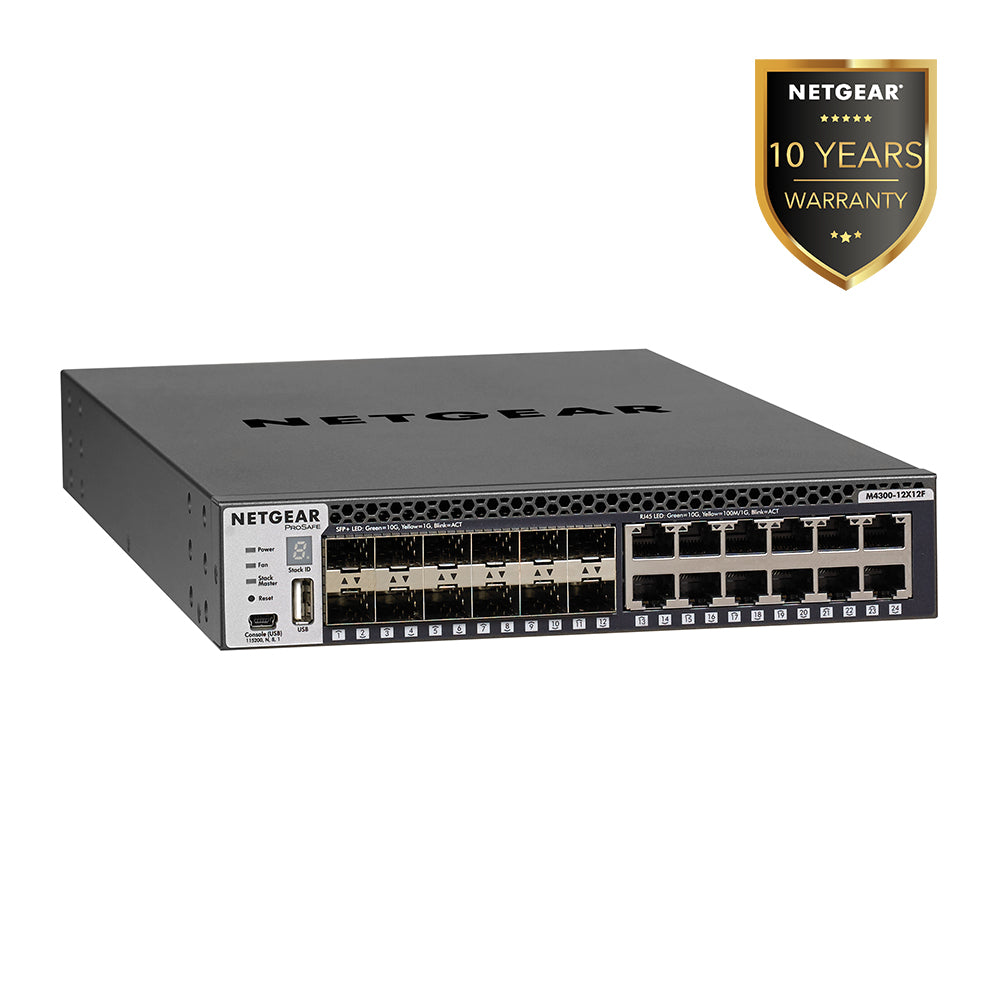 Netgear XSM4324S - Stackable Managed Switch with 24 Port x 10G Layer 3 (Warranty 10 Years)