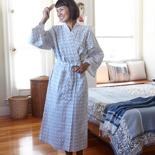Blockprint Cotton Robe