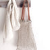Jute String Bag with Leather Handle