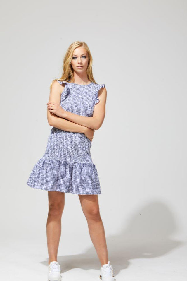 Lexi Dress Blue Gingham