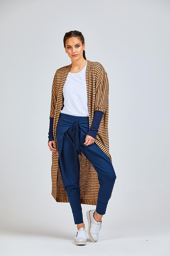 Everylove Cardi Navy/Camel Long