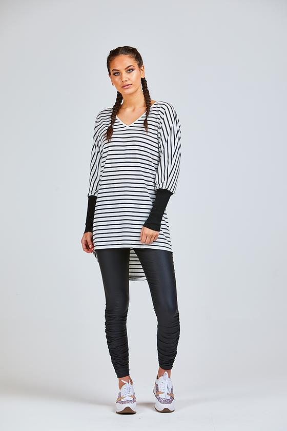 Chloe Tunic Black/White