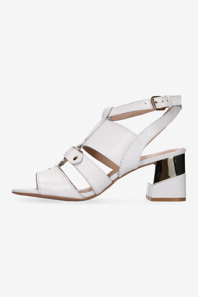 Allie Mid Heel White