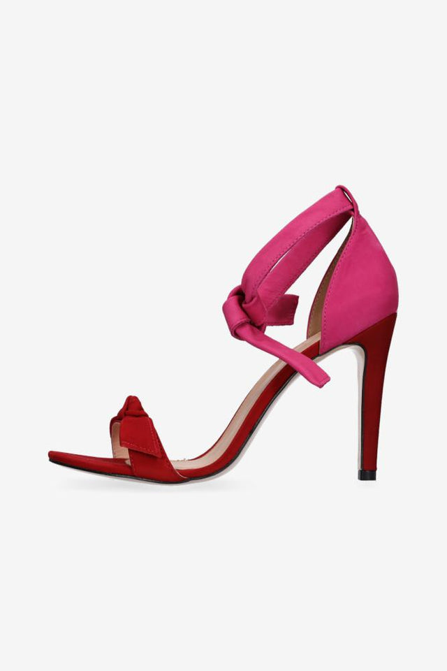 Demi Heel Red & Pink