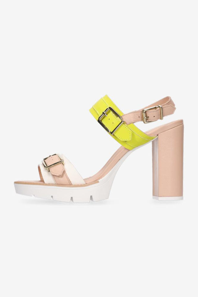 Heidi Heel Yellow Beige White