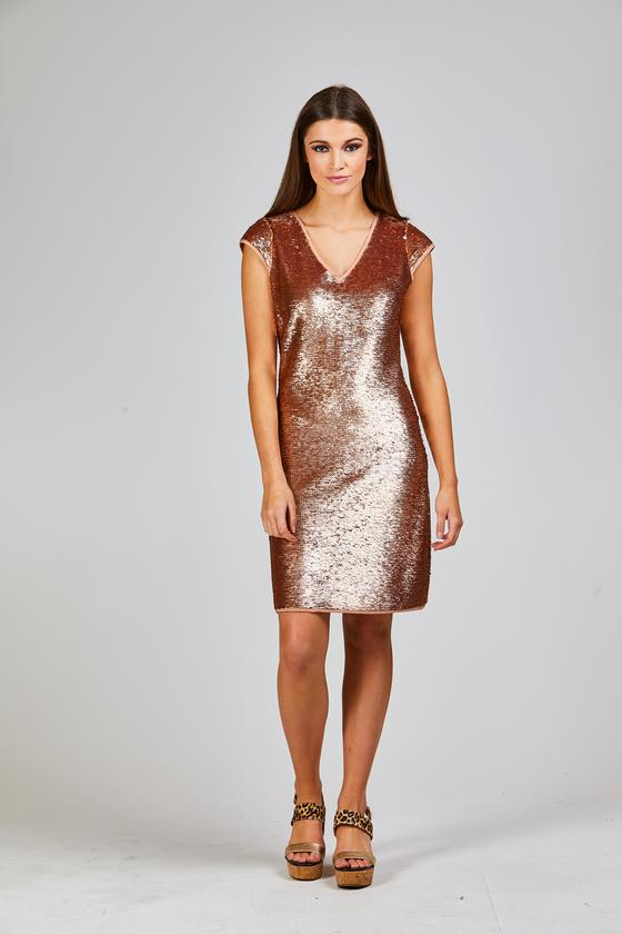 Golden disco dress