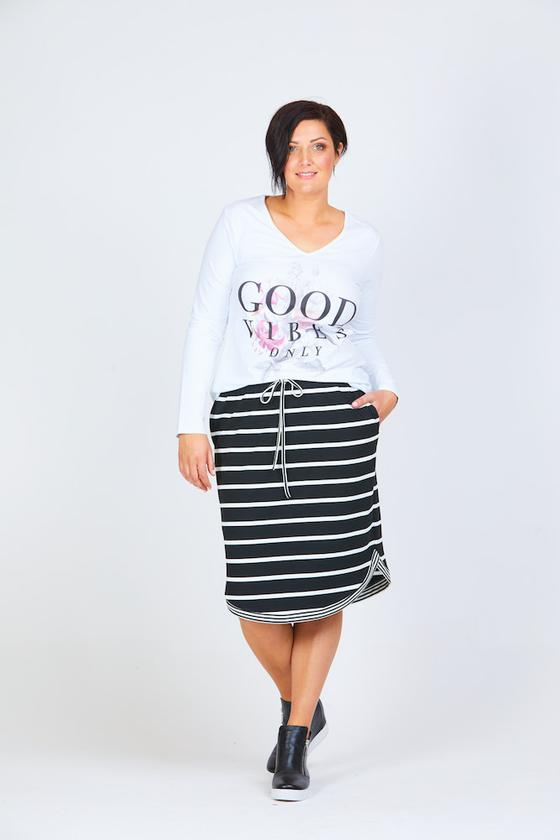 Curve Skirt wide stripe