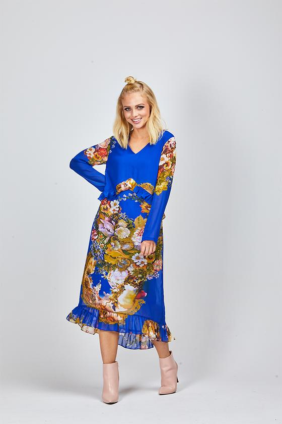 Jamie Blue Floral Dress