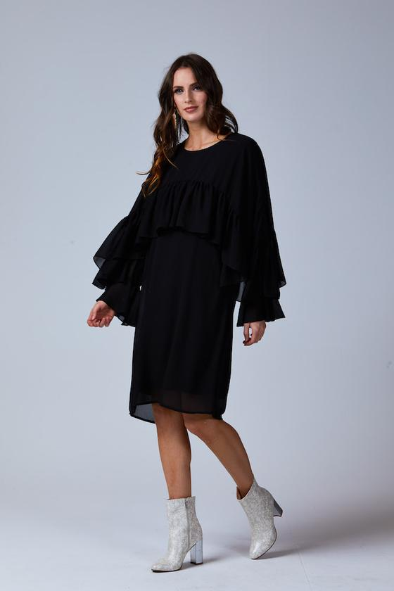 SIERRA CHIFFON DRESS BLACK