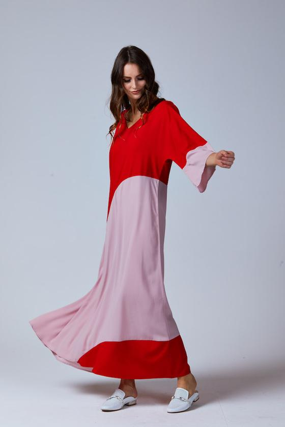 SCARLET MAXI DRESS RED/BLUSH