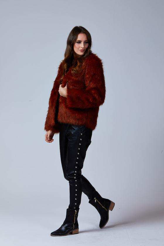 DANY FUR COAT RUST