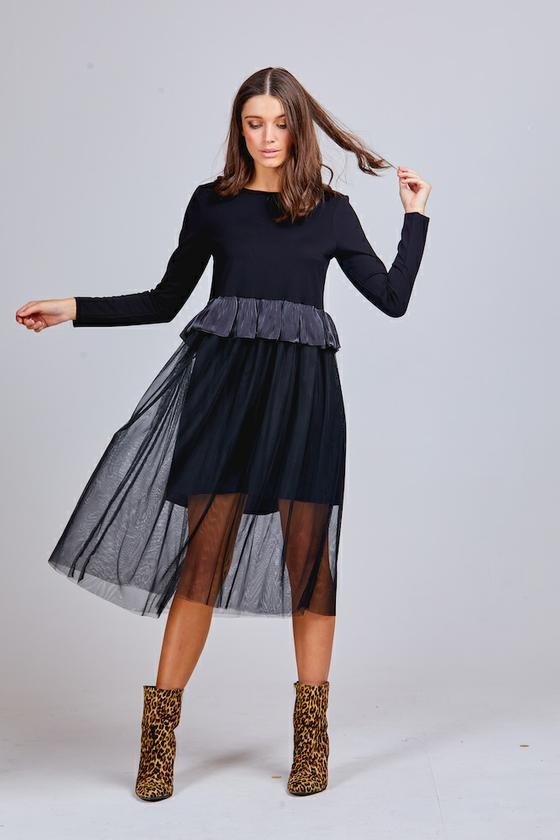 JAZMINE TULLE DRESS BLACK