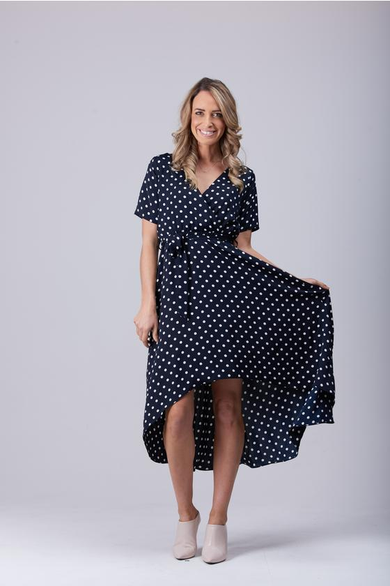 Marley Midi Dress Navy