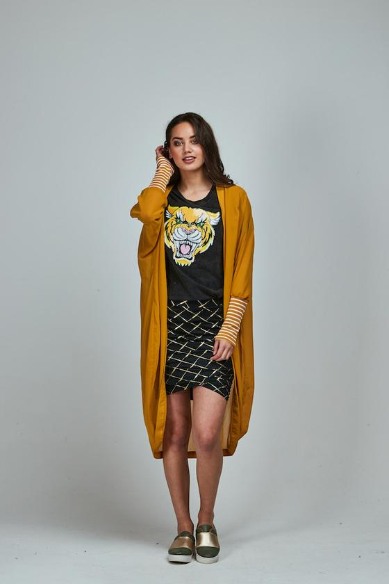 Crossbar Gold Meow Skirt Short