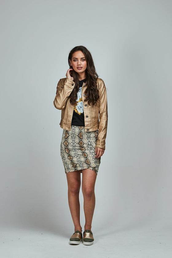 Snakeskin Meow Skirt Short