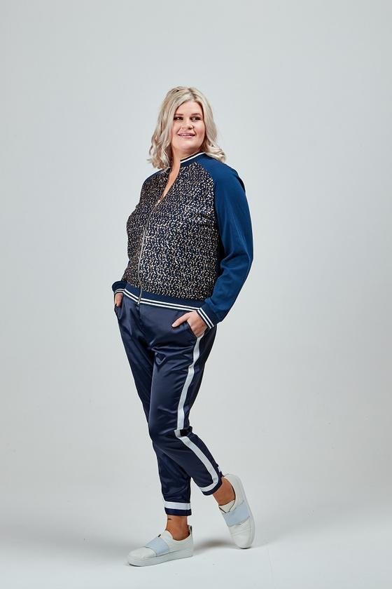 Claire Sequin Bomber Navy