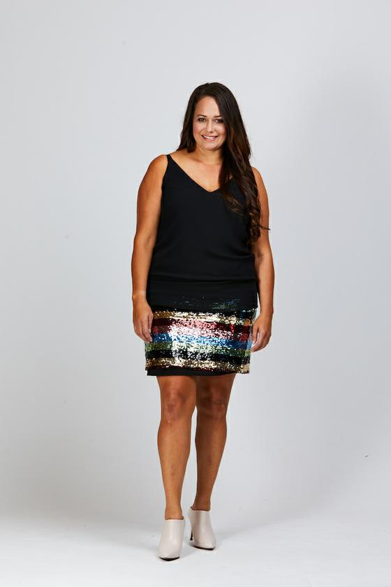 Heidi Sequin Skirt